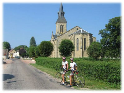 tandem in french countryside
